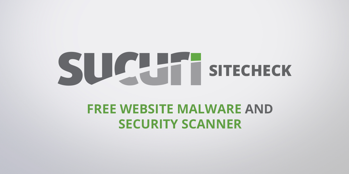 Sucuri SiteCheck - Free Website Security Check & Malware Scanner